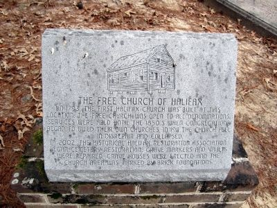 The Free Church of Halifax Marker image. Click for full size.