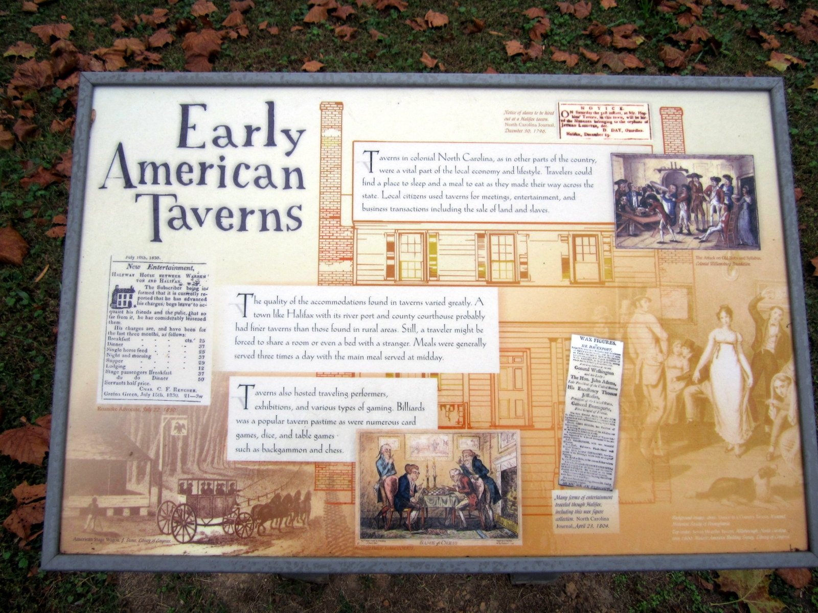 Early American Taverns Marker