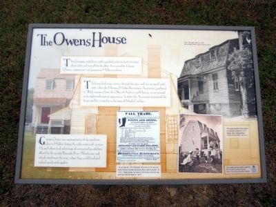 The Owens House Marker image. Click for full size.