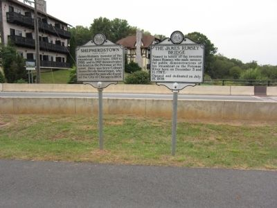 Shepherdstown and Rumsey Bridge Markers image. Click for full size.