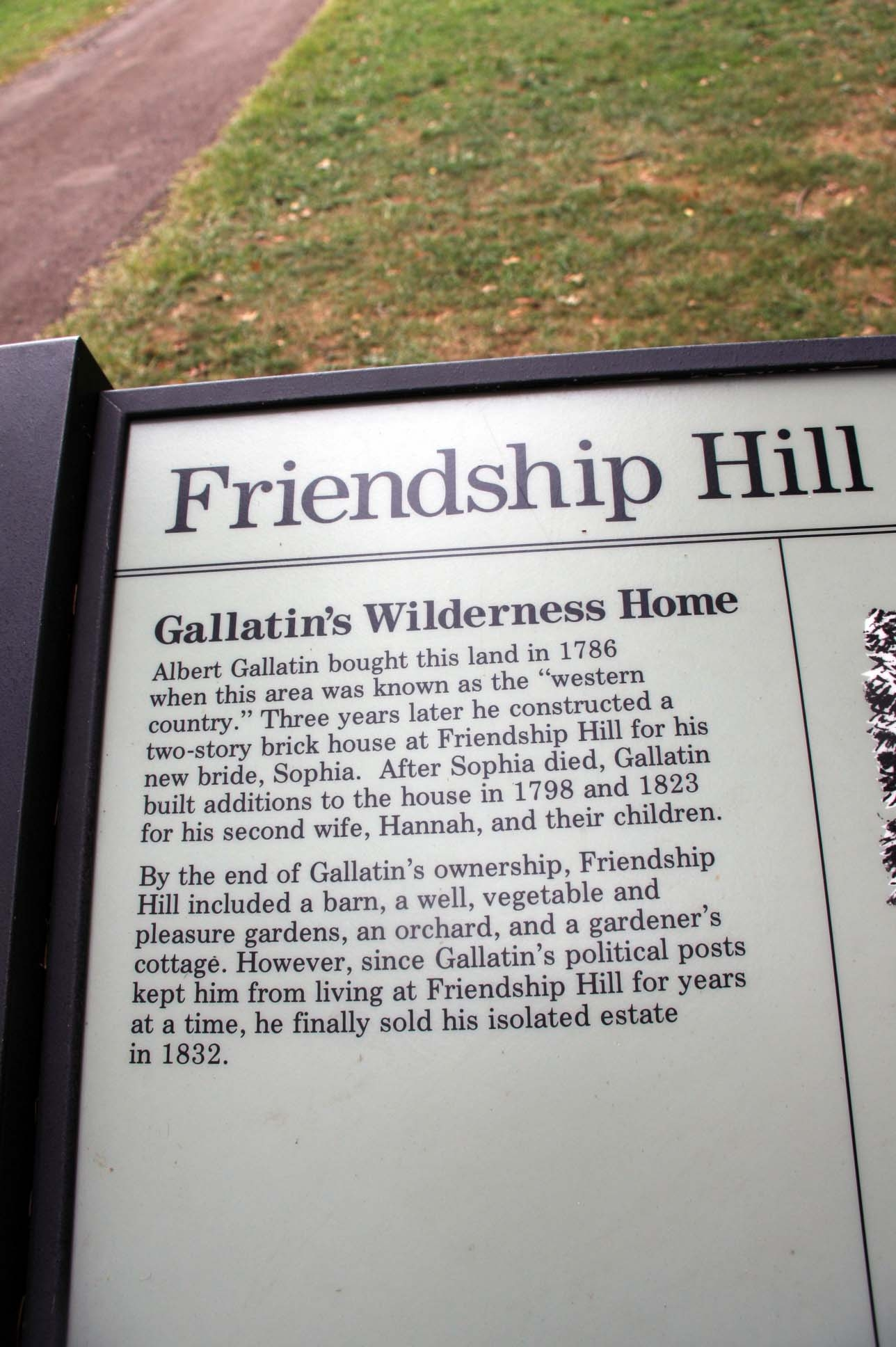 Friendship Hill Marker