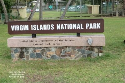 Establishment of Virgin Islands National Park Marker image. Click for full size.