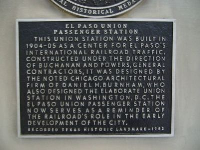 El Paso Union Passenger Station Marker image. Click for full size.