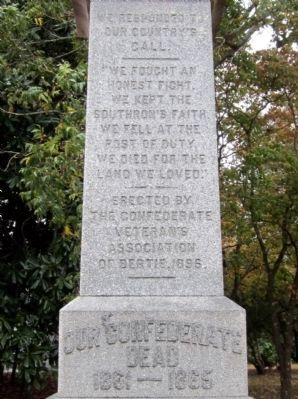 Bertie County Confederate Monument image. Click for full size.