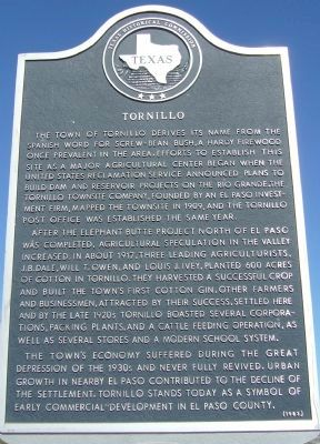 Tornillo Marker image. Click for full size.