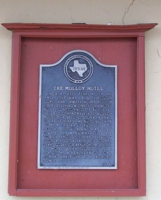 The Molloy Hotel Marker image. Click for full size.
