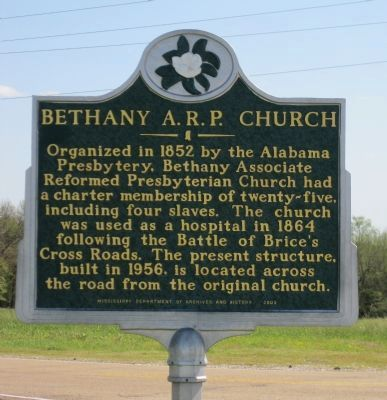 Bethany A.R.P. Church Marker image. Click for full size.