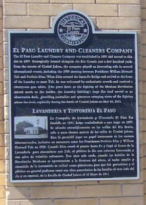 El Paso Laundry and Cleaners Company Marker image. Click for full size.