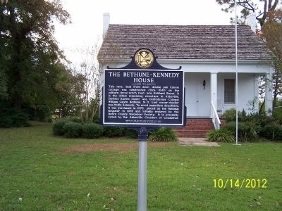 The Bethune-Kennedy House Marker image. Click for full size.