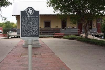 Capt. Charles Henry Allyn Marker at the front of the Corsicana Visitor Center image. Click for full size.