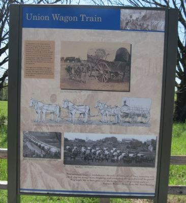 Union Wagon Train Marker image. Click for full size.