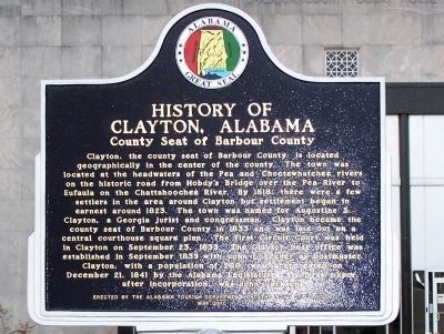 History of Clayton, Alabama Marker image. Click for full size.