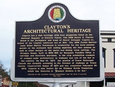 Clayton's Architectural Heritage Marker image. Click for full size.