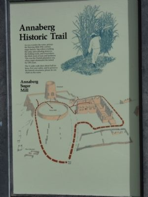 Annaberg Historic Trail Marker image. Click for full size.