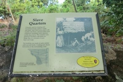 Slave Quarters Marker image. Click for full size.