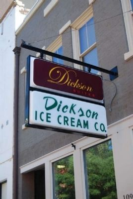 Dickson's Ice Cream Company<br>109 West Benson Street image. Click for full size.