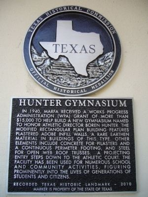 Hunter Gymnasium Marker image. Click for full size.