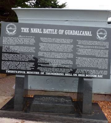 The Naval Battle of Guadalcanal Marker image. Click for full size.