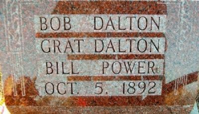 Dalton Gang and Defenders Graves Marker image. Click for full size.