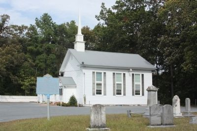 Bethesda Methodist Church and Marker image. Click for full size.