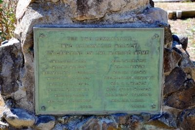 The Two Committees Marker image. Click for full size.