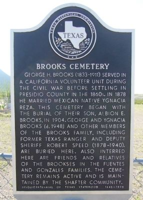 Brooks Cemetery Marker image. Click for full size.