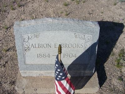 Albion E. Brooks grave image. Click for full size.