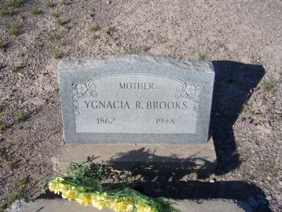 Ygnacia Brooks grave image. Click for full size.