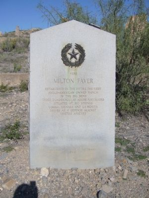 Milton Faver Marker image. Click for full size.
