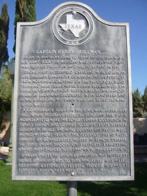 Captain Henry Skillman Marker image. Click for full size.