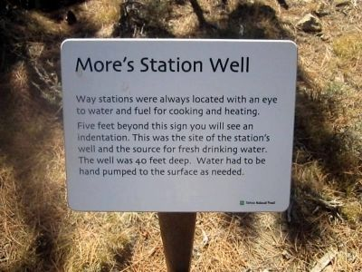 More's Station Well (Interpretive Marker #5) image. Click for full size.