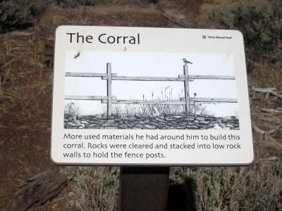 The Corral Marker (Interpretive Marker #7) image. Click for full size.