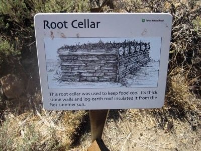 Root Cellar (Interpretive Marker #8) image. Click for full size.
