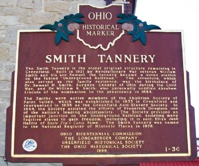 Smith Tannery Marker image. Click for full size.