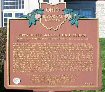 Edward Lee McClain High School Marker image. Click for full size.