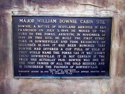 Major William Downie Cabin Site Marker image. Click for full size.