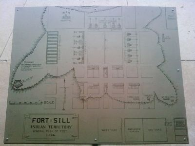 Fort Sill General Plan of Post - 1874 image. Click for full size.