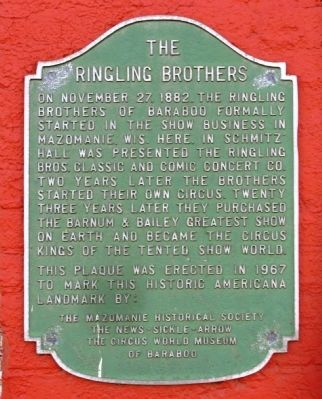 The Ringling Brothers Marker image. Click for full size.