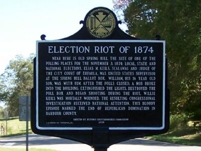 Election Riot of 1874 Marker image. Click for full size.