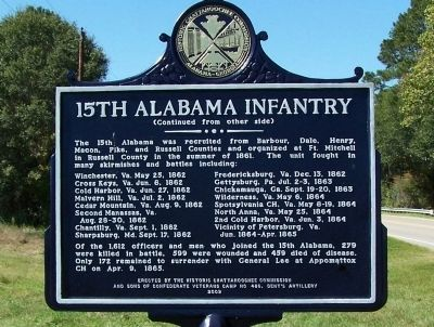 15th Alabama Infantry Marker image, Touch for more information