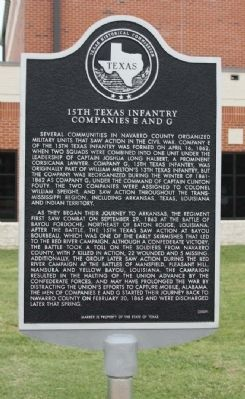 15th Texas Infantry Companies E and G Marker image. Click for full size.