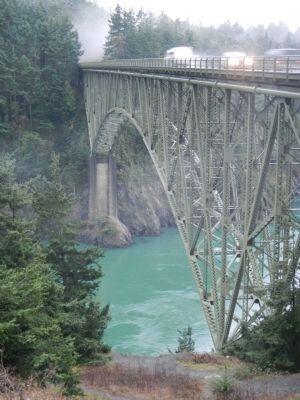 Deception Pass and Deception Pass Bridge image. Click for full size.