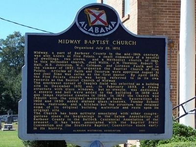 Midway Baptist Church Marker image. Click for full size.