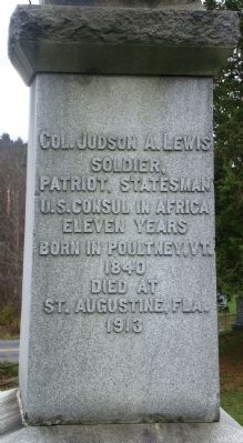 Back of Poultney Civil War Monument image. Click for full size.