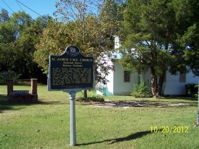 St. James C.M.E. Church Marker image. Click for full size.