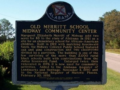 Old Merritt School Midway Community Center Marker image. Click for full size.
