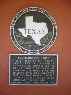 Nolte-Rooney House Marker image. Click for full size.