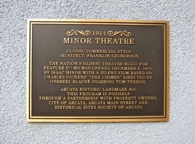 Minor Theatre Marker image. Click for full size.