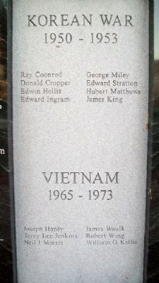 War Memorial Korea-Vietnam Roll of Honored Dead image. Click for full size.
