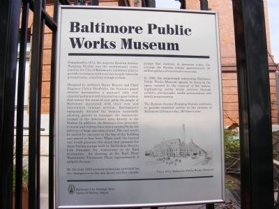 Baltimore Public Works Museum Marker image. Click for full size.
